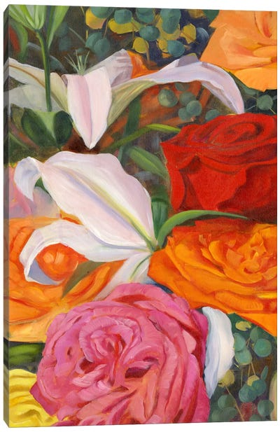 Deconstructed Flower Composition I Canvas Art Print