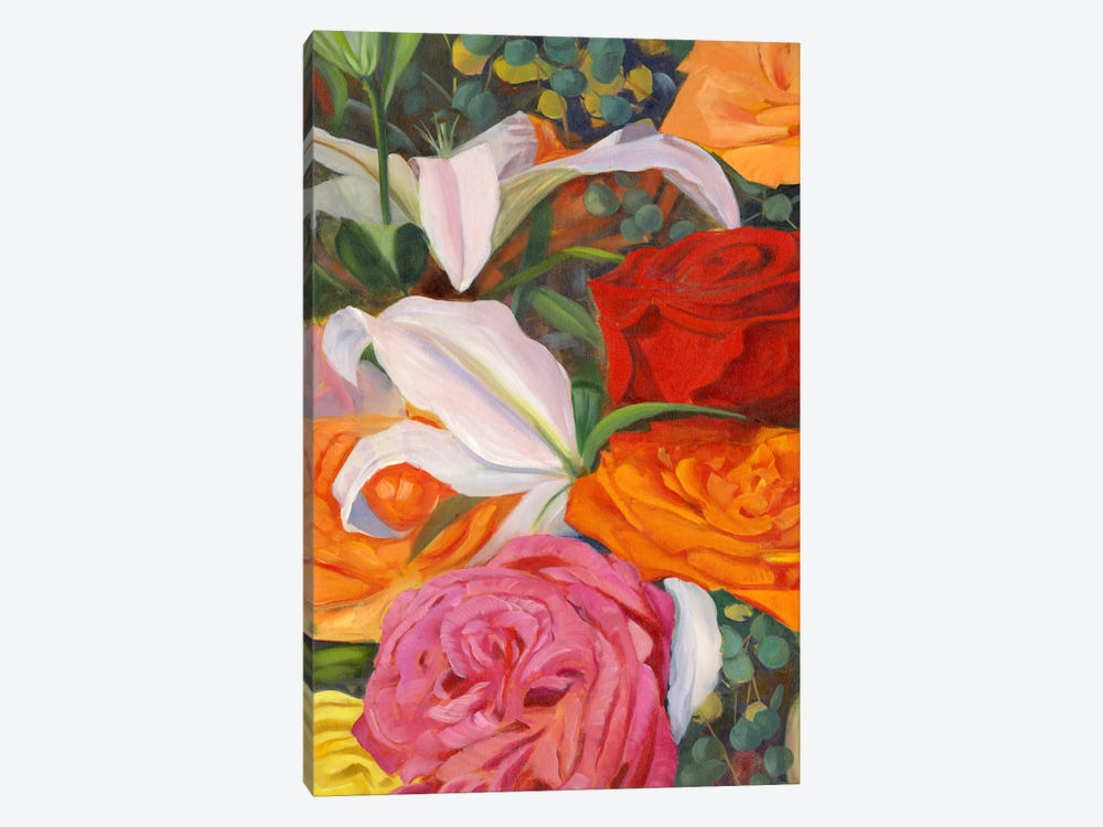 Deconstructed Flower Composition I by Sandra Iafrate 1-piece Canvas Print