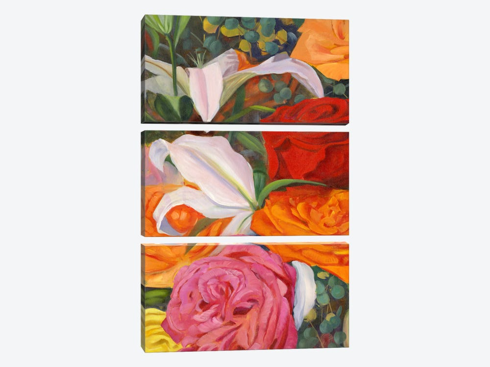 Deconstructed Flower Composition I by Sandra Iafrate 3-piece Canvas Print