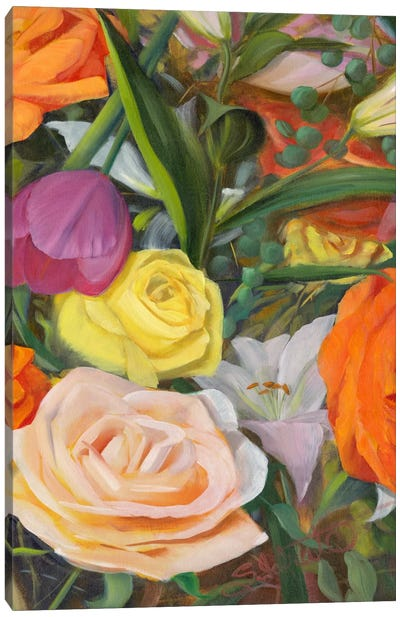 Deconstructed Flower Composition II Canvas Print #IAF7