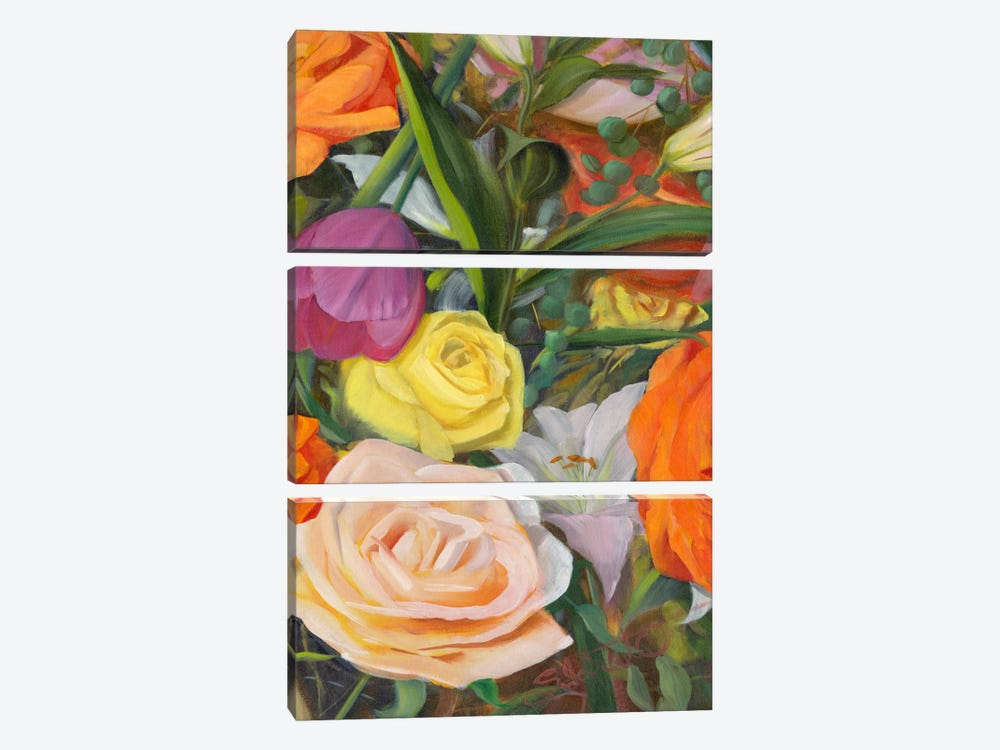 Deconstructed Flower Composition II by Sandra Iafrate 3-piece Canvas Artwork