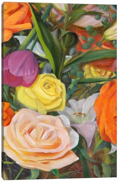 Deconstructed Flower Composition II Canvas Art Print