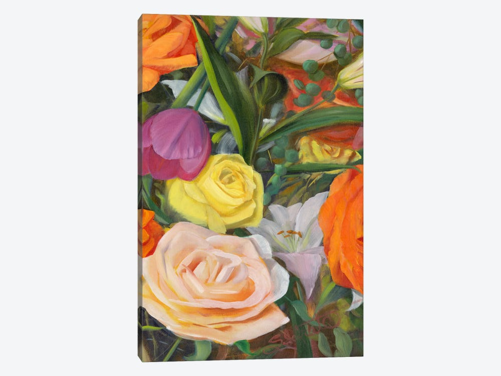 Deconstructed Flower Composition II by Sandra Iafrate 1-piece Canvas Wall Art