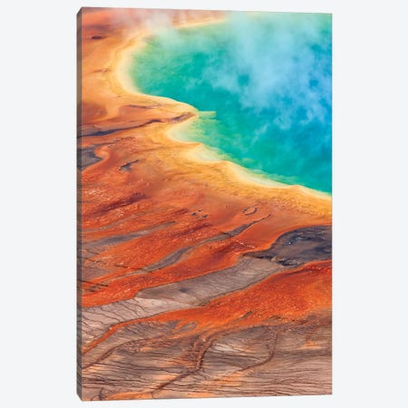 Grand Prismatic Spring, Midway Geyser Basin, Yellowstone National Park, Wyoming I Canvas Print #IAR12} by Ingo Arndt Canvas Artwork