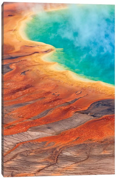 Grand Prismatic Spring, Midway Geyser Basin, Yellowstone National Park, Wyoming I Canvas Art Print