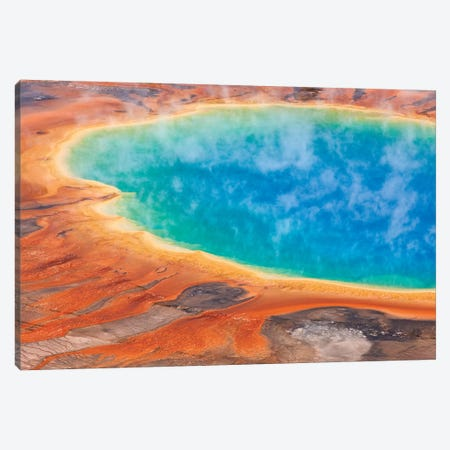 Grand Prismatic Spring, Midway Geyser Basin, Yellowstone National Park, Wyoming II Canvas Print #IAR13} by Ingo Arndt Canvas Art