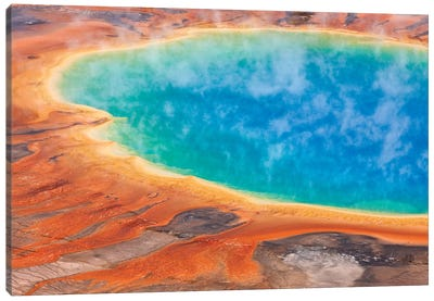 Grand Prismatic Spring, Midway Geyser Basin, Yellowstone National Park, Wyoming II Canvas Art Print