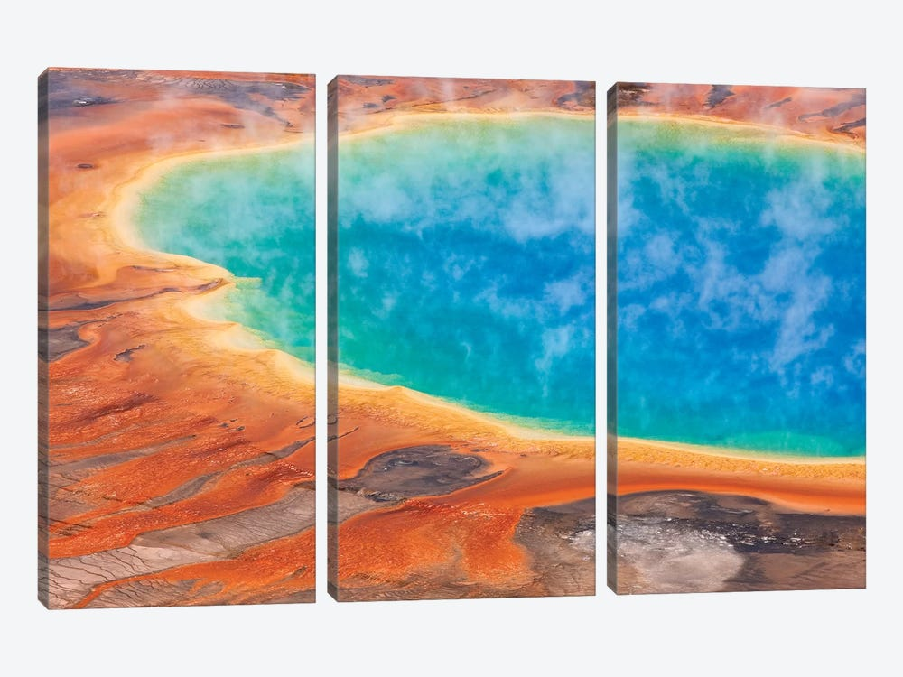 Grand Prismatic Spring, Midway Geyser Basin, Yellowstone National Park, Wyoming II by Ingo Arndt 3-piece Art Print
