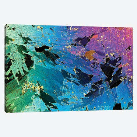 Photograph Of 1mm Thick Ice Core (Collected From Weddell Sea, Antarctica) Under Polarized Light Canvas Print #IAR23} by Ingo Arndt Canvas Print
