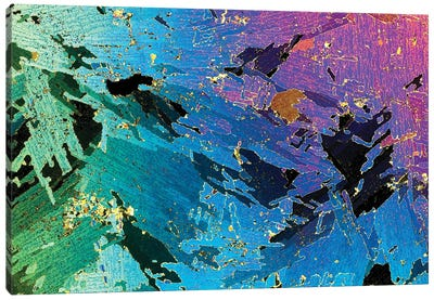 Photograph Of 1mm Thick Ice Core (Collected From Weddell Sea, Antarctica) Under Polarized Light Canvas Art Print