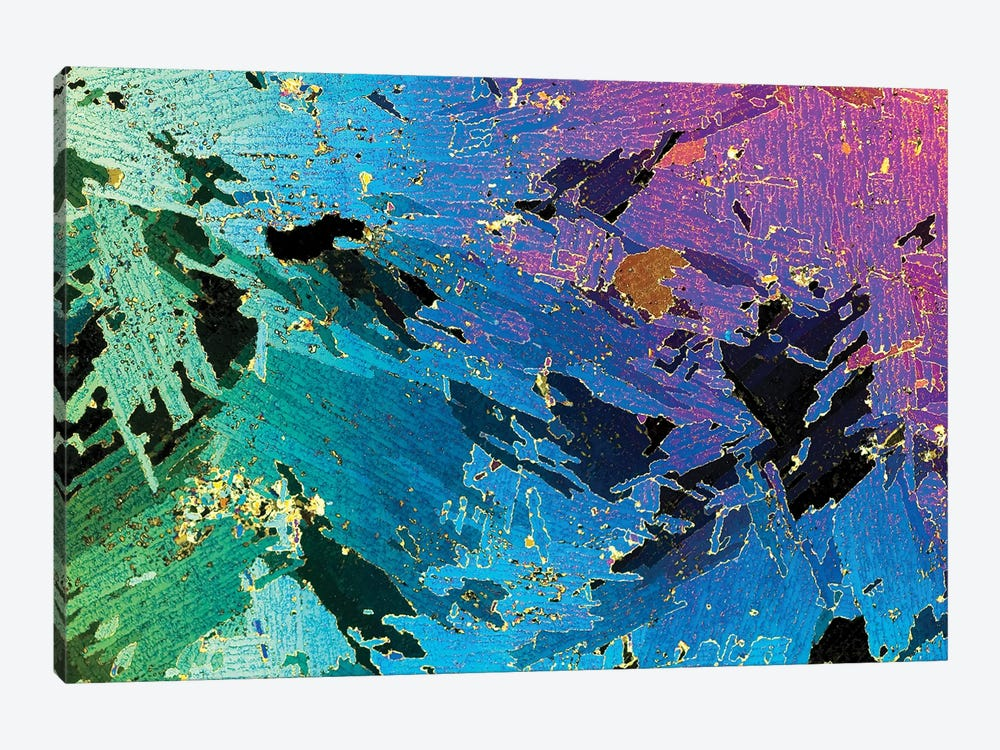 Photograph Of 1mm Thick Ice Core (Collected From Weddell Sea, Antarctica) Under Polarized Light 1-piece Canvas Artwork