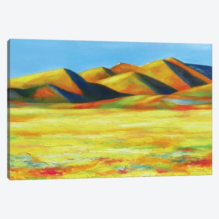 Distant Foothills Canvas Print #IBA13} by Ieva Baklane Canvas Print