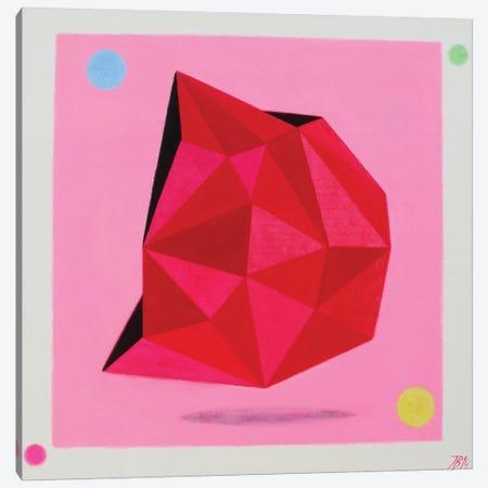 12 Ray Star Ruby Canvas Print #IBA1} by Ieva Baklane Canvas Wall Art