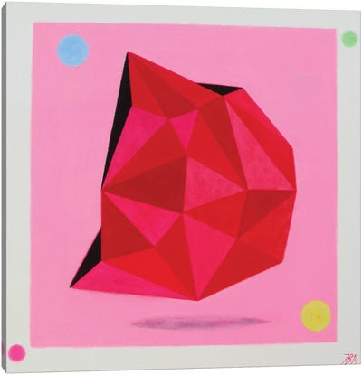12 Ray Star Ruby Canvas Art Print