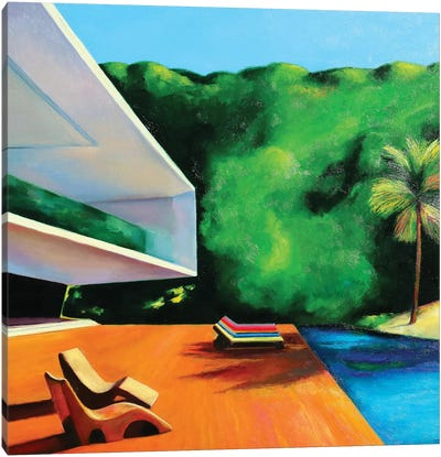 House By The Beach Canvas Art Print