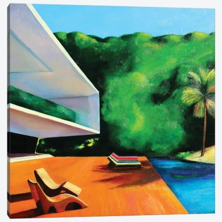 House By The Beach Canvas Print #IBA22} by Ieva Baklane Canvas Wall Art