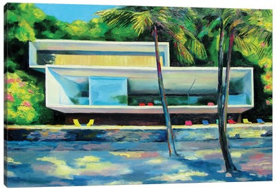 House On The Beach Canvas Art Print