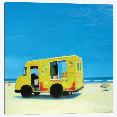 Ice Cream Truck Canvas Print #IBA28} by Ieva Baklane Canvas Artwork
