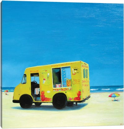 Ice Cream Truck Canvas Art Print