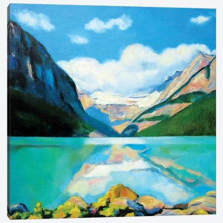 Lake Louise Canvas Print #IBA30} by Ieva Baklane Canvas Art Print