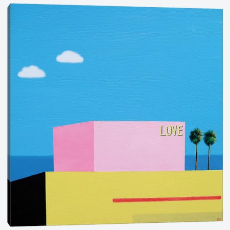 Love At Santa Monica Canvas Print #IBA33} by Ieva Baklane Canvas Print