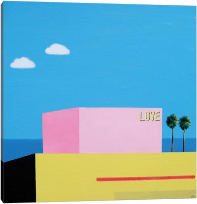 Love At Santa Monica Canvas Art Print