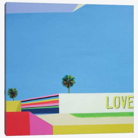 Love In The City Canvas Print #IBA34} by Ieva Baklane Canvas Art