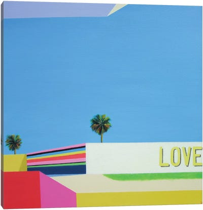 Love In The City Canvas Art Print