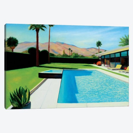 Palm Springs Monday Canvas Print #IBA38} by Ieva Baklane Canvas Art Print