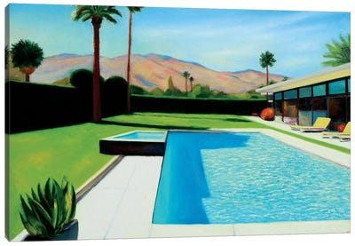 Palm Springs Monday Canvas Art Print