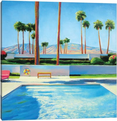 Palm Springs Pool Canvas Art Print