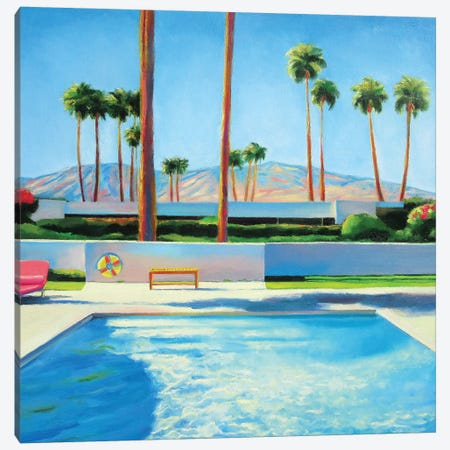 Palm Springs Pool Canvas Print #IBA39} by Ieva Baklane Canvas Art Print