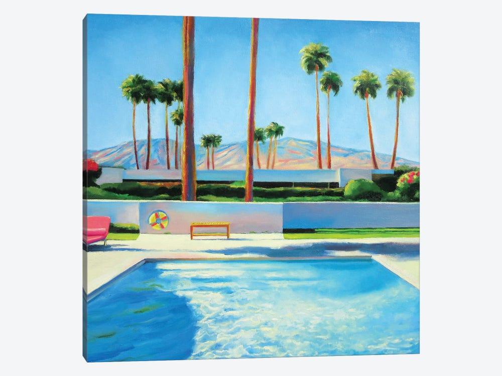 Palm Springs Pool by Ieva Baklane 1-piece Canvas Artwork