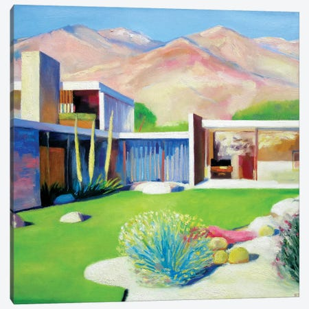 Palm Springs Sunday Canvas Print #IBA40} by Ieva Baklane Canvas Wall Art