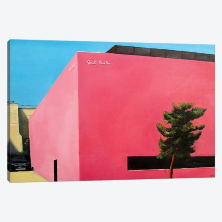 Pink Wall Canvas Print #IBA41} by Ieva Baklane Canvas Wall Art