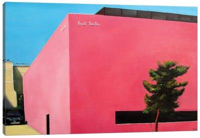 Pink Wall Canvas Art Print