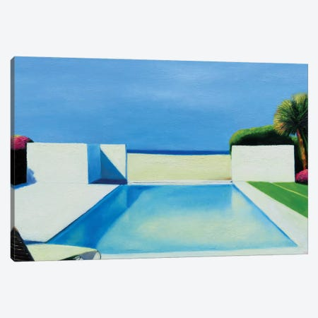Pool By The Beach Canvas Print #IBA42} by Ieva Baklane Canvas Wall Art