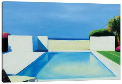 Pool By The Beach Canvas Art Print