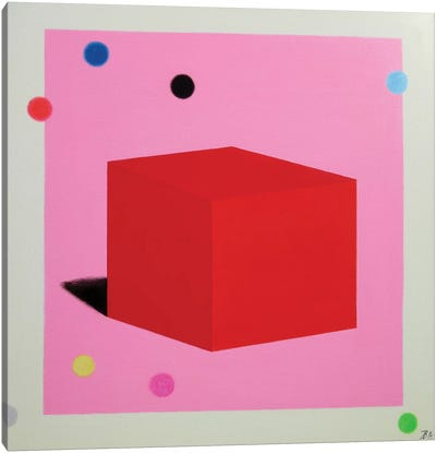 Red Cube Canvas Art Print