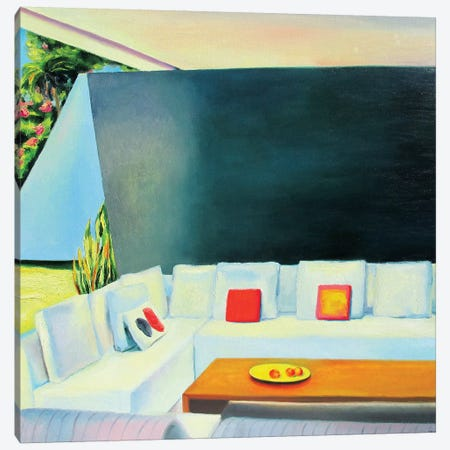 Red Pillow Canvas Print #IBA44} by Ieva Baklane Canvas Art Print