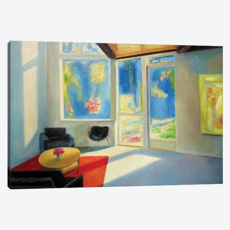 Spring Afternoon Canvas Print #IBA49} by Ieva Baklane Canvas Artwork