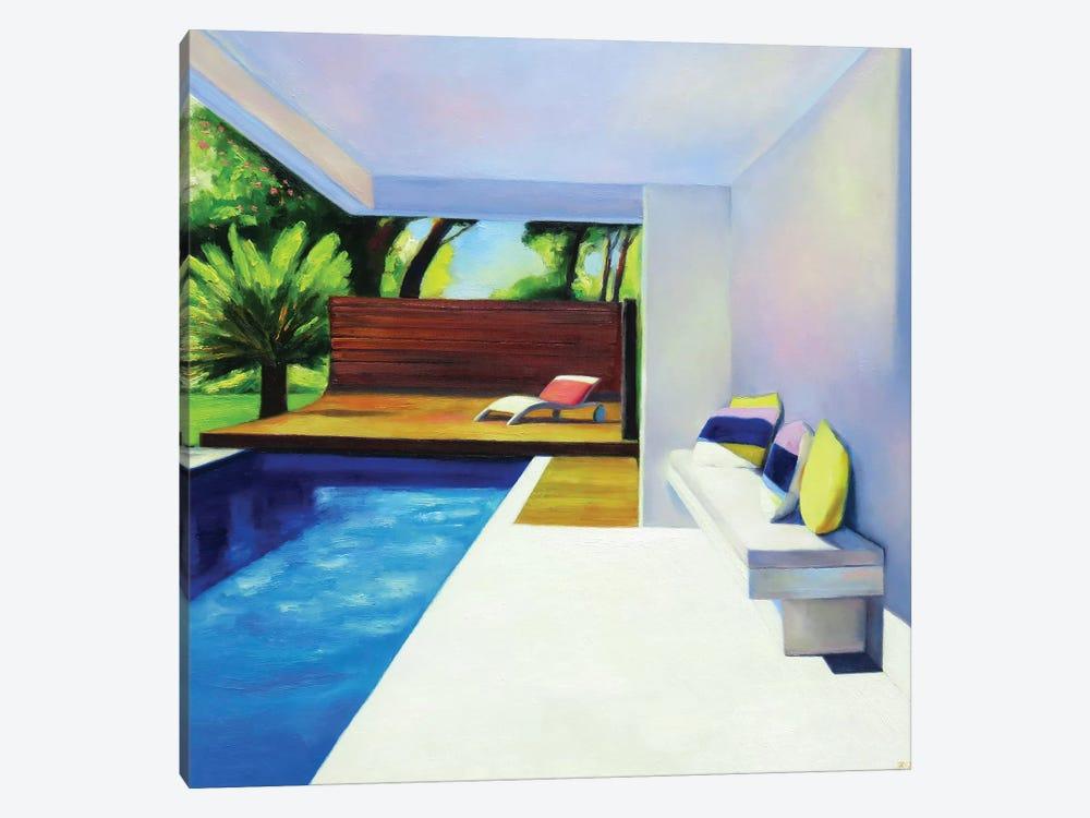 White Terrace by Ieva Baklane 1-piece Canvas Wall Art
