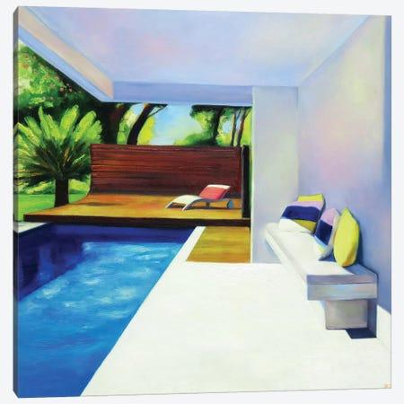 White Terrace Canvas Print #IBA59} by Ieva Baklane Canvas Art Print