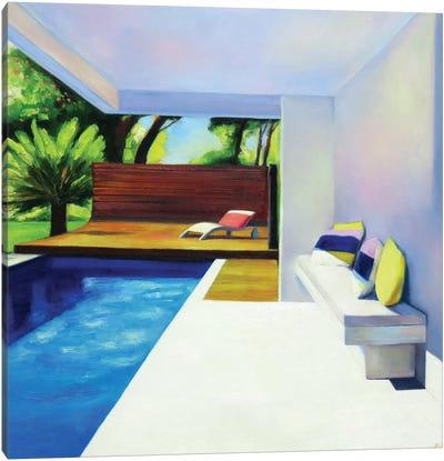 White Terrace Canvas Art Print
