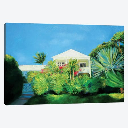 White Villa Canvas Print #IBA60} by Ieva Baklane Canvas Wall Art