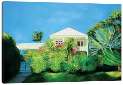 White Villa Canvas Art Print