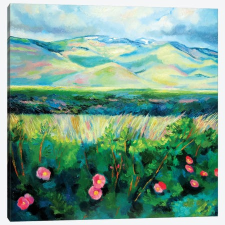 Wild Roses Canvas Print #IBA61} by Ieva Baklane Canvas Art