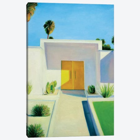 Yellow Door Canvas Print #IBA67} by Ieva Baklane Canvas Print