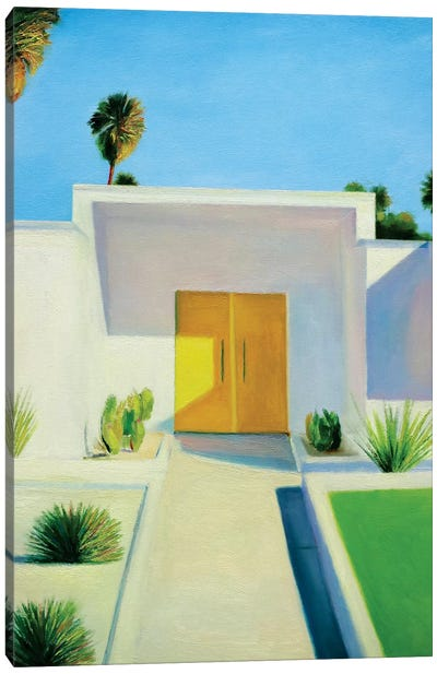 Yellow Door Canvas Art Print
