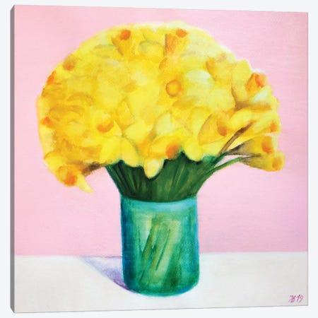 Daffodils Canvas Print #IBA69} by Ieva Baklane Canvas Art